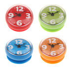 Modern Bathroom Clock Wall Mounted, Suction Cup, Displays Time, Water Resistant