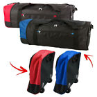 Collapsible Trolley Bag With Wheels Folding Luggage Holiday Clothing Holder Case