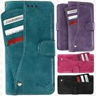 For LG Aristo 2 Premium Slide Out Pocket Wallet Pouch Cover +Screen Protector