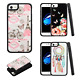 For Apple iPhone 7 & 7 PLUS HARD Tempered Glass Back Hybrid Case Phone Cover