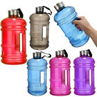 LARGE 2.2L BPA FREE SPORT GYM HALF GALLON TRAINING WORKOUT WATER BOTTLE EXERCISE
