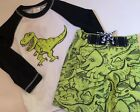 NWT GYMBOREE BOYS SWIM TRUNKS SHORTS TOP RASHGUARD SET DINOSAUR dino u pick size