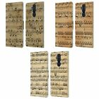 HEAD CASE DESIGNS MUSIC SHEETS LEATHER BOOK CASE FOR MICROSOFT NOKIA PHONES