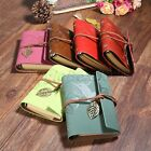 1PC String Leaf Vintage PU Leather Cover Notebook Diary Journal Book Sketchbook