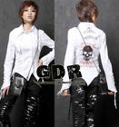GLP LOLITA GOTHIC LACE SHIRT CUTE PUNK 71185 White M