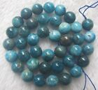 """4mm 6mm 8mm 10mm Natural Apatite Round Loose Beads 15"""""""