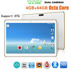 10.1'' 64GB Android 6.0 Tablet PC Octa Core 10 Inch HD WIFI 2 SIM 4G Phablet NEW