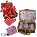 Gisela Graham Dolly Dolls Tea Set Basket Picnic Hamper Case 22 Piece Toy Gift
