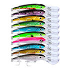 6-10pcs Fishing Bait 3D Fishing Lures 10 Colors Fishing Tackle 31g/17cm Bass