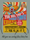 DESIGN YOUR OWN PERSONALISED CIRCUS POSTER METAL SIGN : 3 SIZES TO CHOOSE FROM