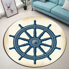 Vintage Nautical Rudder Bathroom Area Rug Nonslip Floor Yoga Rug Bath Mat Carpet