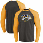 Nashville Predators Fanatics Branded Showtime Raglan Tri-Blend Long Sleeve on eBay