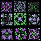 Anemone Quilt Squares 2 Machine Embroidery CD-45 Designs by Anemone Embroidery