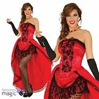Adults Red Ladies Burlesque Can Can Saloon Girl Moulin Rouge Fancy Dress Costume