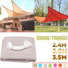 Square Triangle Sun Shade Sail Waterproof Outdoor Top Canopy Patio UV Block