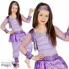 Childs Girls Oriental Belly Dancer Jasmine Arabian Princess Fancy Dress Costume