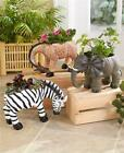 INDOOR OUTDOOR SAFARI ELEHANT GIRAFFE ZEBRA ANIMAL GARDEN FLOWER DECK PLANTER