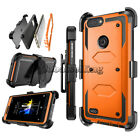 Shockproof Hybrid Armor Dual Layer Protective Hard Case Cover For ZTE Phones