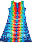 TIE DYE Women's Tank Top Dress Rainbow DNA hippie boho gypsy sm med lg xl 2X 3X