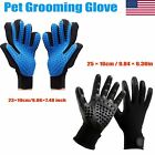 1 Pair Dog Cat Grooming Bath Washing Massage Glove Fur Cleaning Pet Hair Brush