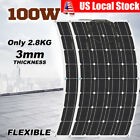 1~10pcs 100W Mono Semi Pliable Solar Panel Battery Charger For Boat Roof RV Car