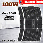 1~10pcs 100W Mono Semi Tractable Solar Panel Battery Charger For Boat Roof RV Car