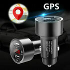 Dual USB 3.1A Car Charger Adapter Voltmeter LED Display GPS Real Time Tracker