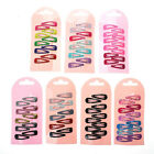 10X Snap Hair Clip Hairpin Barrette Headwear Accessories For Baby Girls Children