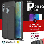 FUNDA TPU Gel para SAMSUNG J6 2018 efecto cuero carbon color rugged case leather
