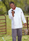 Uncommon Threads Palermo chef coat, white, 100% premium cotton, XS-6XL, 0440C