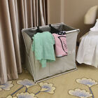 3 Section Laundry Sorter Hamper Organizer Washing Dirty Clothes Basket Storage