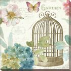 """Lisa Audit """"Rainbow Seeds Floral Birdcage III v2"""" Giclee Stretched Canvas Wall"""