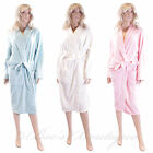 Soft Fleece Dressing Gown Size S M L House Coat Robe New Forever Dreaming Ladies