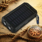 Waterproof 50000mAh Solar Power Bank 2USB 2LED Portable Battery Charger Compass
