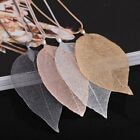 Fashion Special Leaves Leaf Necklace Pendant Sweater Chain Women Jewelry Gift