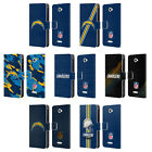 OFFICIAL NFL LOS ANGELES CHARGERS LOGO LEATHER BOOK CASE FOR SONY PHONES 2
