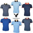 Mens Polo Top Shirts Tipped American Eagle Outfitters Cotton T-Shirts UK S-2XL