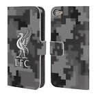 LIVERPOOL FC LFC DIGITAL CAMOUFLAGE LEATHER BOOK CASE FOR APPLE iPOD TOUCH MP3