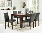 Large or Small Dark Brown Wooden Dining Table 2, 4, or 6 Chairs Brand New