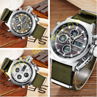 OHSEN Fashion Mens Military Digital & Analog Nylon Band Army Sport Watch Quartz