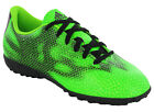 Adidas F5 TF Boys Kids Green Lace Up Astro Football Boots Trainers Shoes