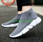 Mens Ankle Stretchy Boots Walk Sneakers Pointed Toe Socks Running Shoes Plus SZ&