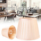 8'' to 18'' Fabric Box Pleat Lamp Shade Cream Table Light Replacement Lampshade