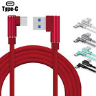 US Elbow Braided Charger Lightning Micro USB C Fast Charging Cable For Samsung