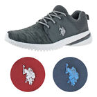 US Polo Assn Statbilizer Mens Knit Low Top Lace Up Fashion Sneakers Shoes