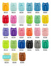 ALVA Baby Cloth Diapers Adjustable Solid Color Reusable Nappy Microfiber Insert