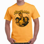 "Golden Girls ""Stay Golden"" Funny Parody Logo Men's Yellow Crewneck T-Shirt"