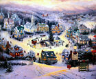 Thomas Kinkade St. Nicholas Circle 12x16 Classic Edition Framed Canvas Saint