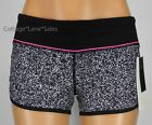 NEW LULULEMON Run Speed Short 2 Flashback Static White Blk Raspberry Glo Shorts
