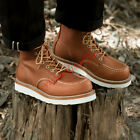 Men's Shoes Retro Real Leather Ankle Work Motorcycle Round toe Boot Size 11 11.5
